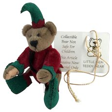 LE Little Gem Teddy Bear Miniature, Elfie, the Elf, by Artist Lisa Lloyd