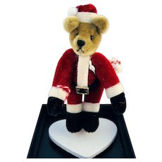 "World of Miniature Bears, LE ""Santa"" bear #615, by Artist Nancy Petitto"