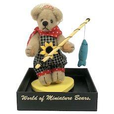 World of Miniature Bears DAVID, the Fisher-Bear by Becky Wheeler