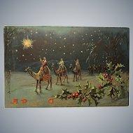 TUCK & Sons Religious Three Wise Men Christmas Postcard