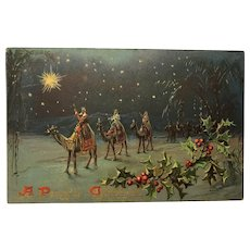 TUCK & Sons Religious Three Wise Men Christmas Postcard