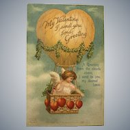 "c. 1900 ""My Valentine I send you fond Greeting"" Valentine Postcard"