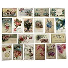 Vintage c 1900s Variety of Flowers Greeting Card Postcards – Lot of 20