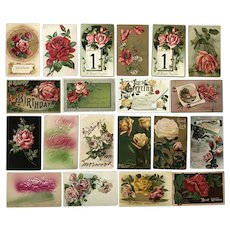 Vintage c 1900s Lovely Roses in a Variety of Colors Greeting Postcards – Lot of 20