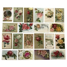 Vintage c 1900s Roses in a Variety of Colors Greeting Postcards – Lot of 20