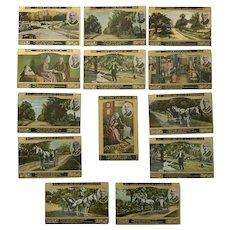 "Vintage c 1900s ""Woman's World"" Lover's Lane, Saint Jo by Eugene Field Postcards – Lot of 13"
