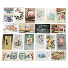 Vintage c 1900 Nautical Themed Greeting Postcards – Lot of 20