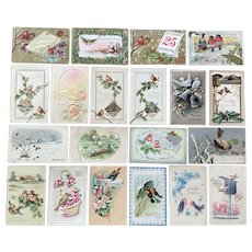 Vintage c 1900 BIRD [some unique] Greeting Postcards – Lot of 20