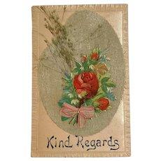 1909 German G-A. Novelty Art Series No. 1289 Unique Floral Postcard