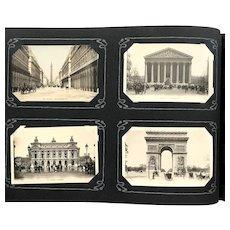 1902 European Souvenir POSTCARD ALBUM ~ 250 Postcards