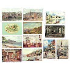 Lot of 12 Vintage Architectural and Landscape with 4 TUCK's Oilettes Postcards