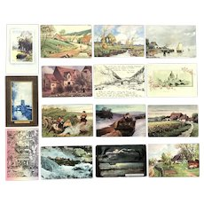 Lot of 15 Vintage Roadside and Countryside Scenic Postcards