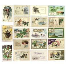 Lot of 18 Vintage Holiday Postcards ~~~  WINSCH Grouping