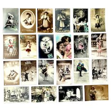 Reserved Listing -- Lot of 22 European Real Photo Postcards -- RESERVED