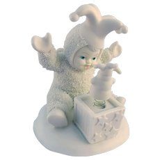 "Snowbabies Dept 56 - 2000 ""Pop Goes the Snowman"" Figurine"