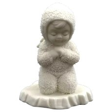 Now I Lay Me Down to Sleep Dept 56 Snowbaby Praying ~ RETIRED