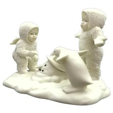 Where Did He Go ~ Dept 56 Snowbabies Penguin Melted Snowman