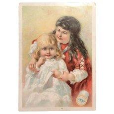 c. 1890 CLARK'S O.N.T. Spool Cotton Trade / Advertising Card