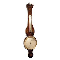 Antique Early English Sheraton Fan Banjo Wheel Barometer
