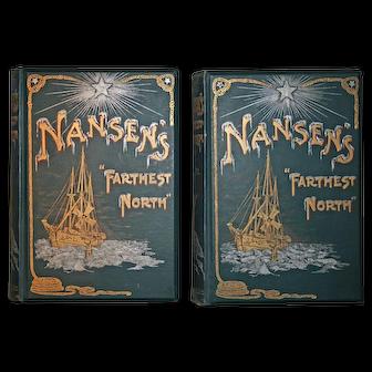 Antique Book Nansen's Farthest North by Fridtjof Nansen 2nd edition 1898 (Polar exploration)