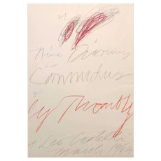 Cy Twombly, Nine Discourses on Commodus at Leo Castelli