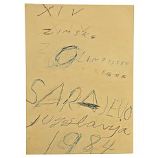 Cy Twombly - Sarayevo - 14° Winter Olympic Games