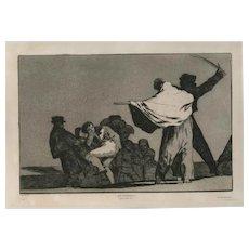 ¡ Que Guerrero! by Francisco José de Goya y Lucientes