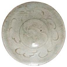 Vintage Stoneware Chinese Bowl