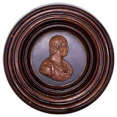 Ancient Bas Rilief with profile of Ferdinando IV Borbone, dressed as a Roman Emperor