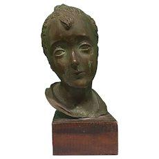Head of Young Boy, by Italian Sculptor Attilio Torresini (1884-1961)