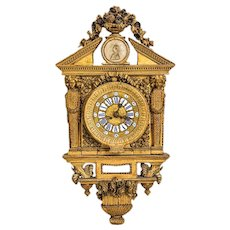 Ancient Cartel Wall Clock, 18th Century
