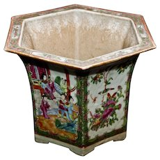 Ancient Chinese Canton Flower Vase