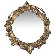 Four Ancient Small Circular Wall Mirrors