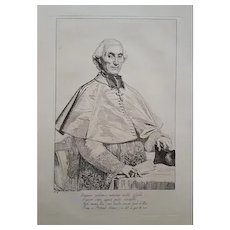 Original Ancient Etching of a Frenchman