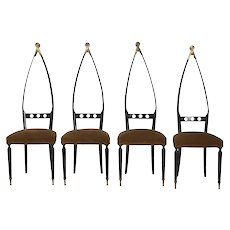 Four Vintage Chairs, 1950s, by Pozzi&Verga