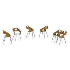 Six Vintage Chairs by Italian Designer Carlo Ratti