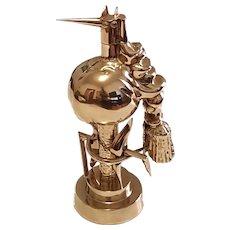 """""""L'Oiseau de Feu et de Fer"""" Polished Brass Statuette by Wifredo Lam"""