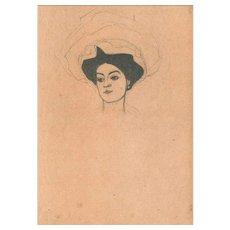 Melanie Schiele - Original Lithograph After Egon Schiele - 1990