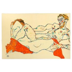 Reclining Male and Female Nude, Entwined