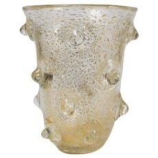 Mugnoni Vase, Vintage Murano Vase by Ercole Barovier & Toso, circa 1938