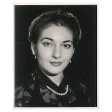 Vintage Rare Black and White Photograph of Young Maria Callas from Mexico