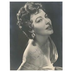 "Ava Gardner's Vintage Signed Photograph with Dedication ""My Best Wishes"""
