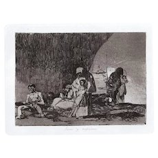 Sanos y Enfermos - Original Etching by Francisco Goya - 1863