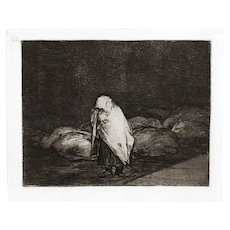 Las camas de la Muerte - Original Etching by Francisco Goya - 1863