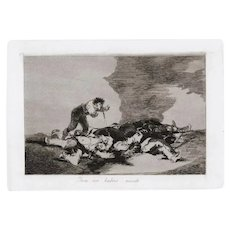 Para es Habeis Nacido - Original Etching by Francisco Goya - 1863