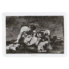 Tampoco - Original Etching by Francisco Goya - 1863