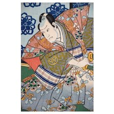 Kabuki Scene - Original Woodcut by Utagawa Kunisada