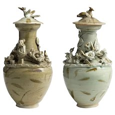 Pair of Ceramic Urns, Song Dinasty, China, 10th/12th Century