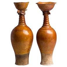 Pair of Ceramic Vases, Liao Dinasty, China, 10th-12th Century