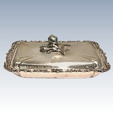 Silver Tray with Decorated Top